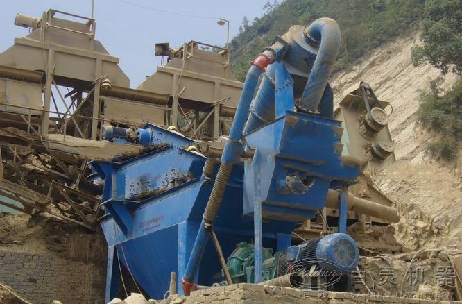 细砂回收机在使用现场